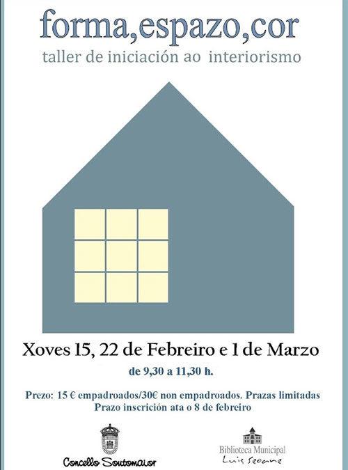 Taller de iniciación ao interiorismo –  FORMA, ESPAZO, COR