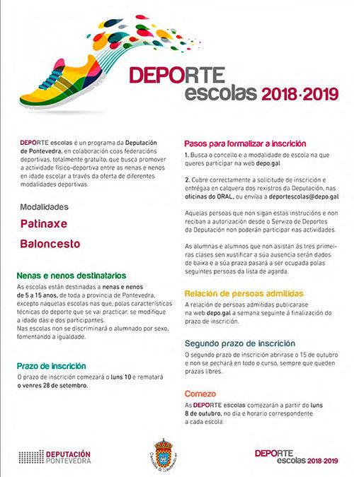 DEPORTE escolas (Baloncesto e patinaxe) 2018-2019