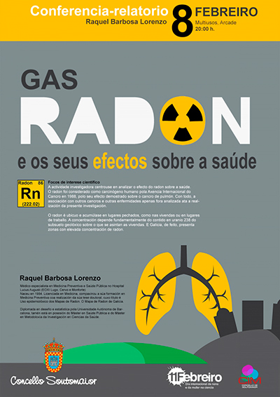 Conferencia-relatorio sobre el gas radón.