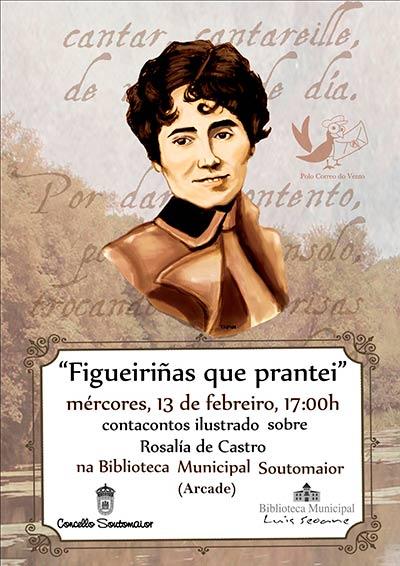 Contacontos ilustrado sobre Rosalía de Castro
