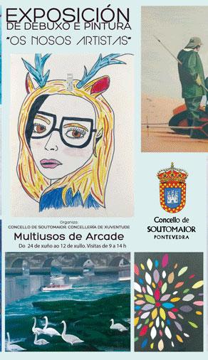 """Exposición de debuxo e pintura """"Os nosos artistas"""""""