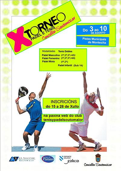 X torneo pádel e tenis Concello de Soutomaior