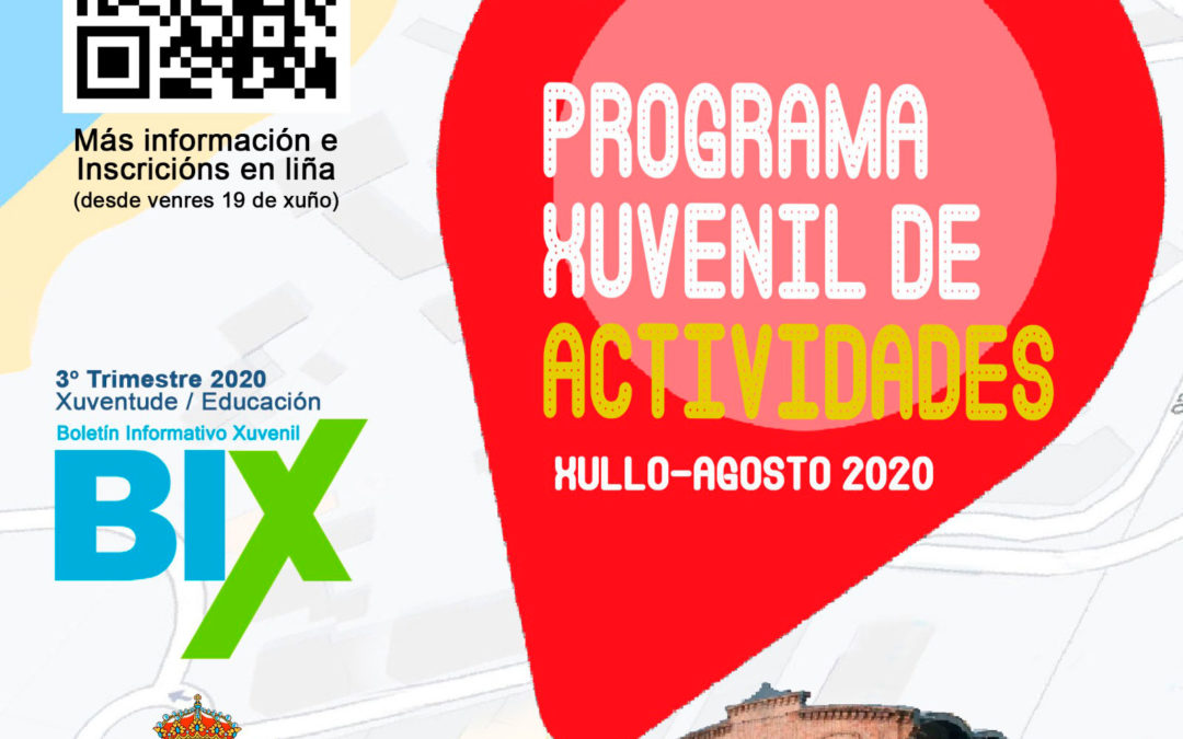 Programa xuvenil de actividades xullo- agosto