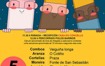Os Reis Magos visitan os barrios de Soutomaior – 5 de xaneiro