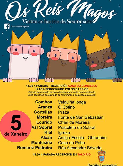 Los Reyes Magos visitan los barrios de Soutomaior – 5 de enero