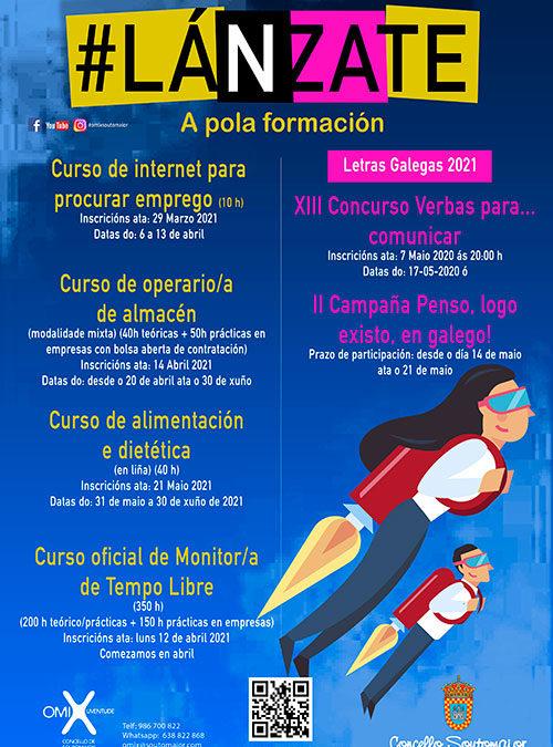 Lánzate –  El Ayuntamiento de Soutomaior convoca nuevos cursos de formación en varias áreas profesionales