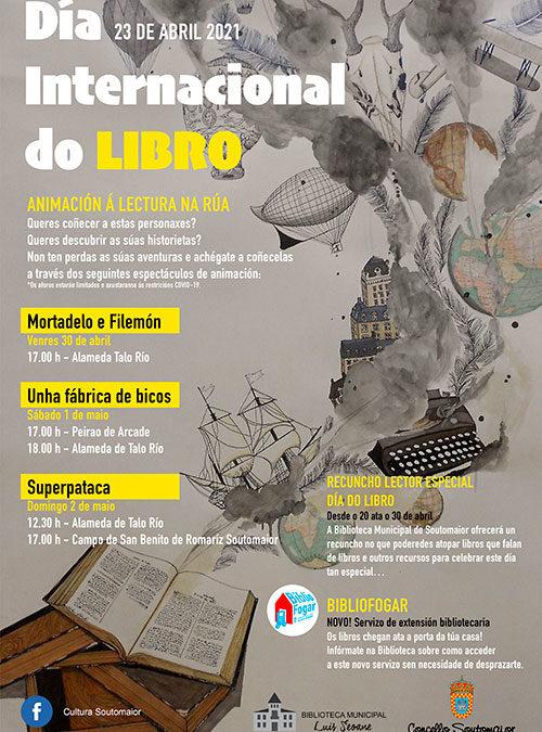 Reprogramación das actividades de Animación na rúa organizadas con motivo do Día do Libro.